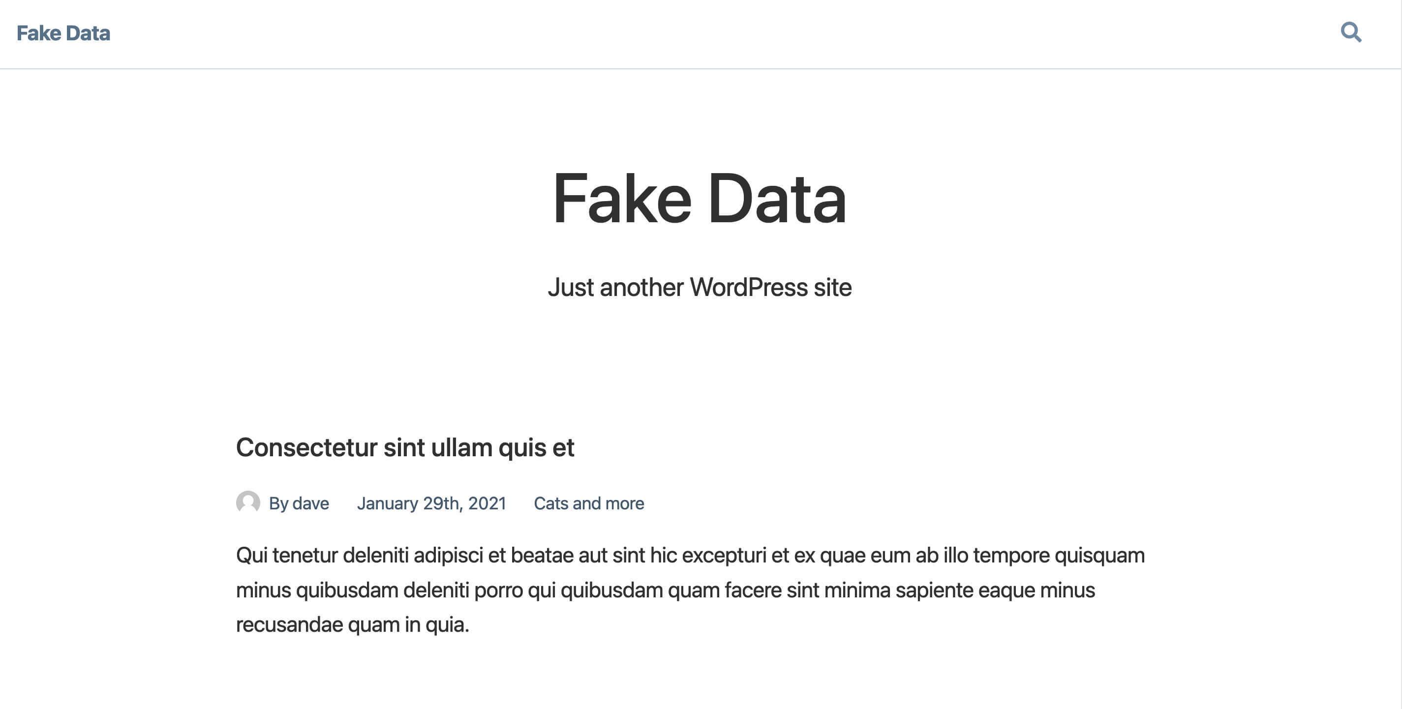 Screenshot of data coming from a Headless WordPress installation running on NextJS