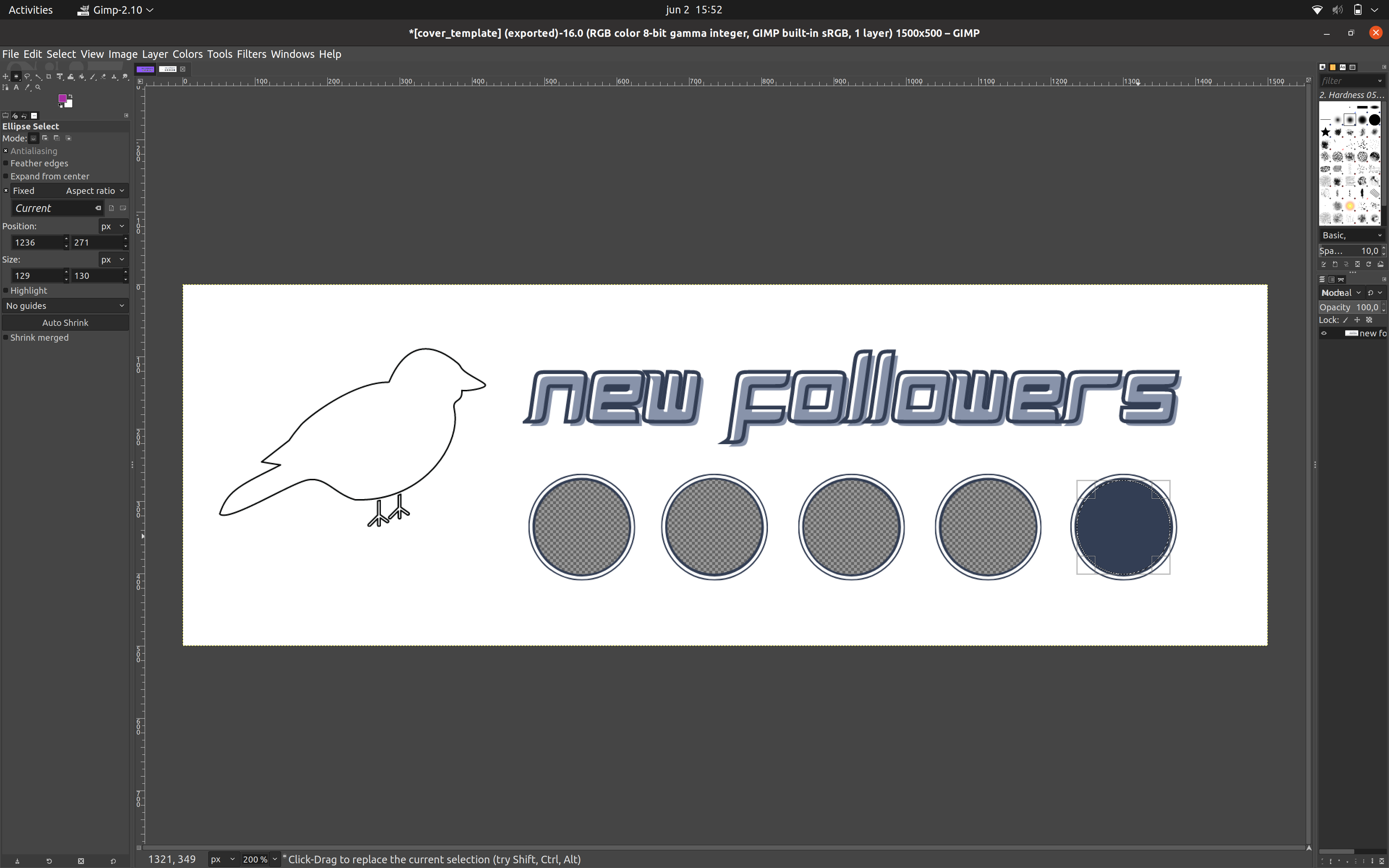 Creating transparent placeholders on Gimp