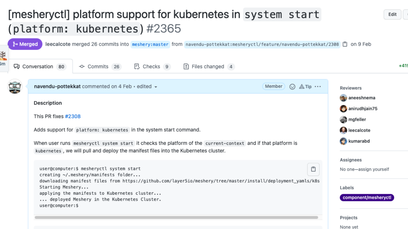 A screenshot showing a pull request in GitHub that focuses on one thing.