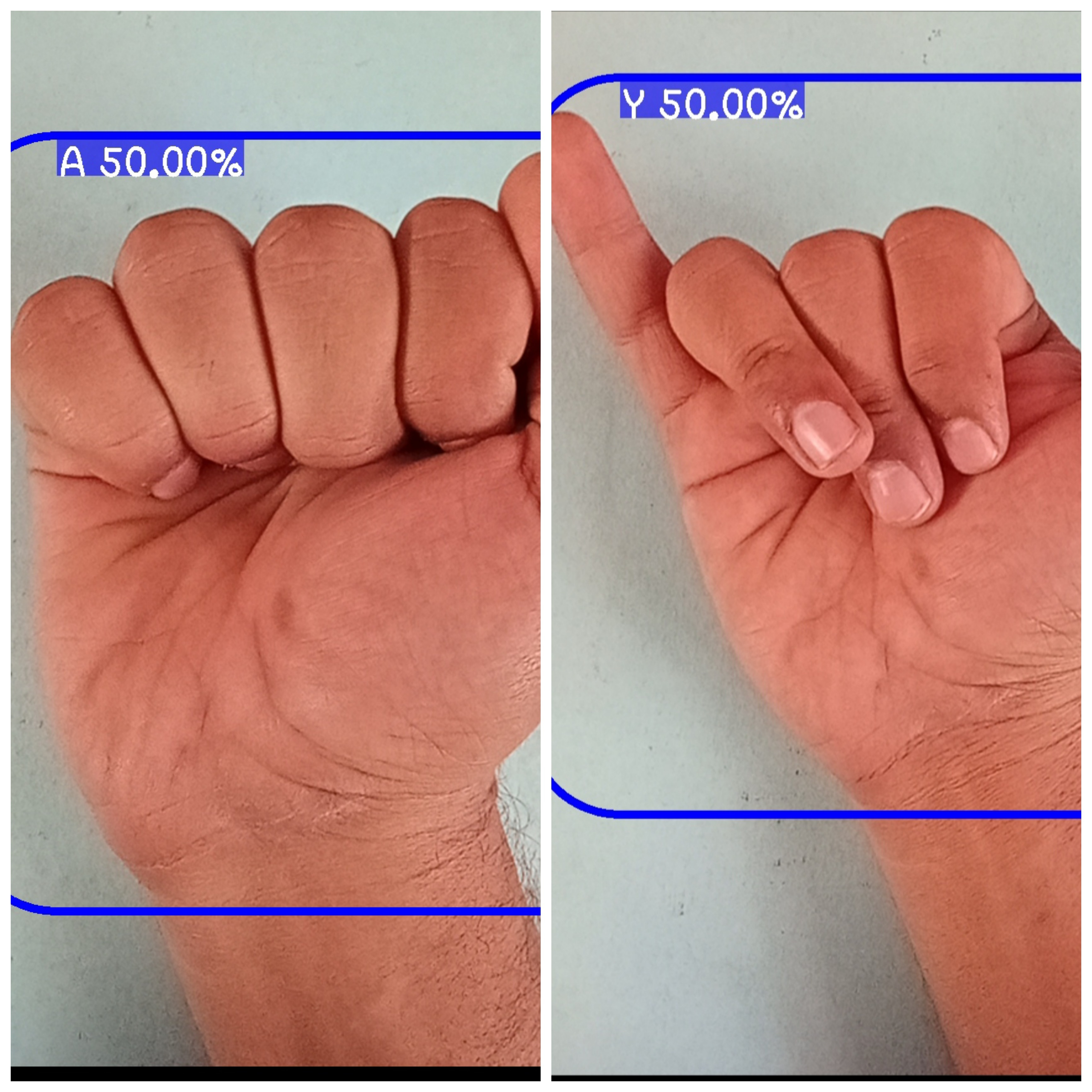 Real Time Hand sign Recogntion using tesnorflow and Python