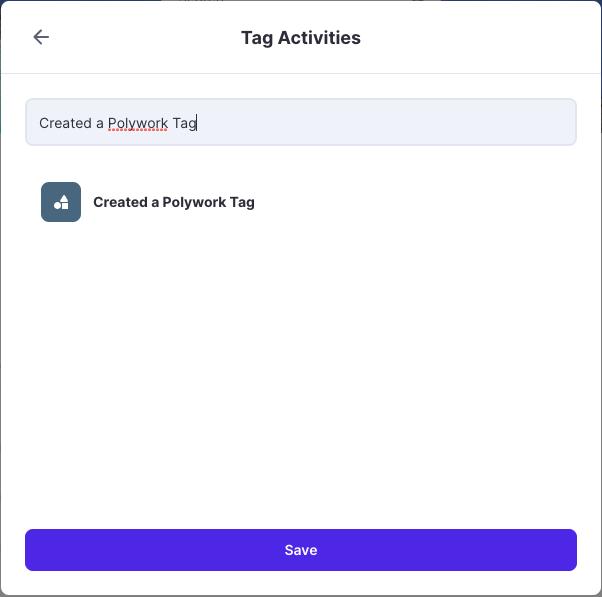 Polywork create new tag